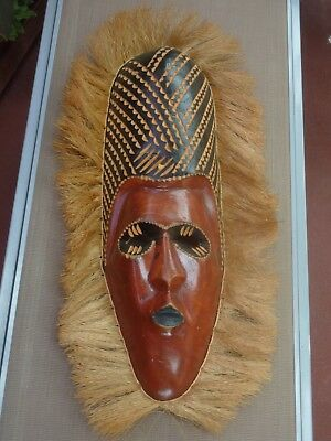 Rare African Hand Carved Wooden Wall Mask Excellent Condition