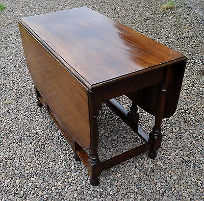 Large Victorian Mahogany Drop Leaf Dining Table