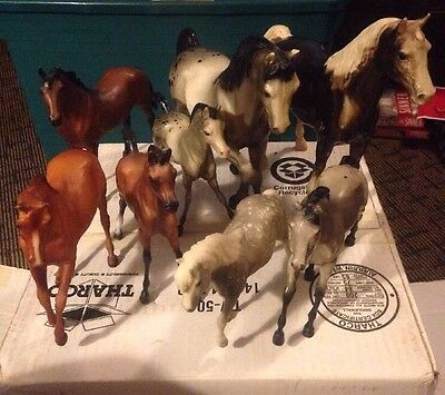 Vtg Breyer Lot Proud Arabians Dapple Gray