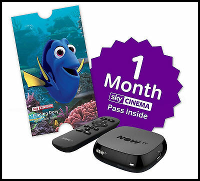NOW TV BOX + 1 Month Cinema Pass + up to £5.49 Sky Store Voucher BRAND NEW