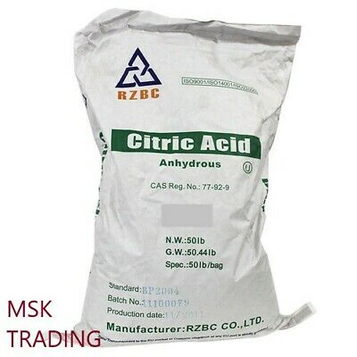 Citric acid 10kg anhydrous food grade quality cheese, wine, soap & bath bomb