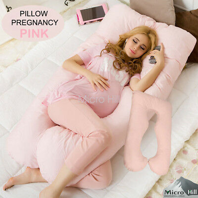 Maternity Pillow Pregnancy Nursing Sleeping Support Feeding Boyfriend Pink