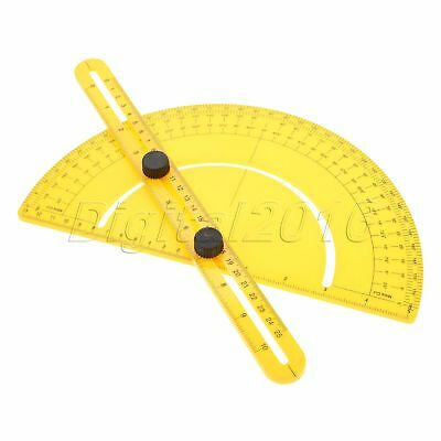 Plastic Angle Engineer Protractor Finder Measure Folding Arm Ruler Gauge Tool