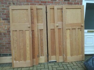 Pre-owned 1930s 1 over 3 panel stripped pitch pine doors.