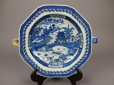 Antique Chinese Export Canton Warming Plate  11 inches