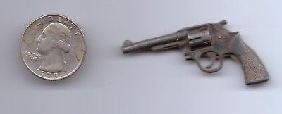 """Vintage Old Toy Pistol 2"""" Long Solid Metal Collectible"""