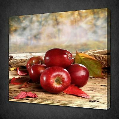 Red Apples Canvas Picture Print Wall Art Free Fast Delivery
