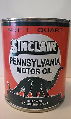 Vintage Sinclair Oil Can 1 qt. -  ( Reproduction Tin Collectable )