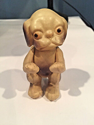 Vintage Celluloid Jointed French Bulldog Pug Dog USA
