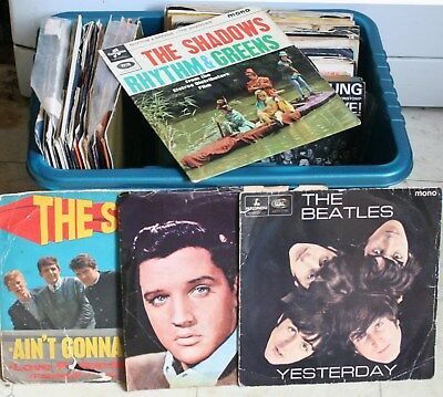 Job Lot / Collection of75 Interesting Vinyl Singles - Many from 1960s