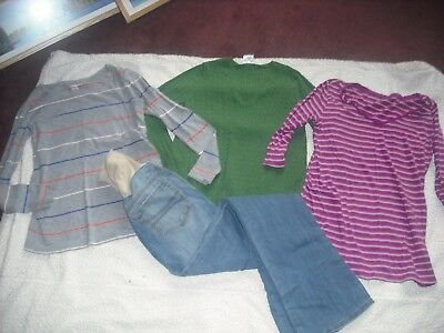 Womens Maternity Lot 4 Gap Tops Shirts Jeans Size S Small FREE SHIP