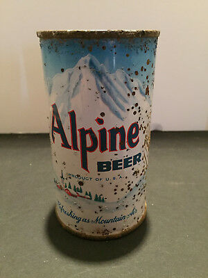 Alpine Flat Top Beer Can..maier Brg. L.a. California..great Color!!! Tough Can!!