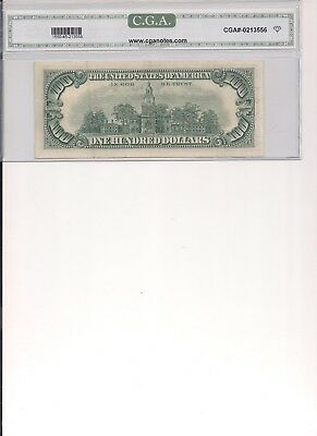 1966 100 dollar red seal note