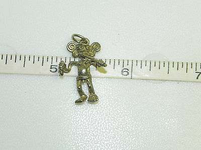 Vintage Sterling Silver Aztec Mayan Incan Man Figure Charm