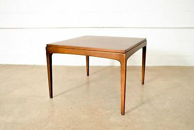 Pleasing Mid Century Coffee Table Lane Solid Walnut Wood Square Beatyapartments Chair Design Images Beatyapartmentscom
