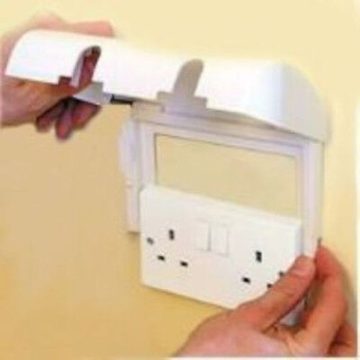 Clippasafe Double Socket Protector Electric Plug Cover Baby Child Safety Box