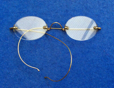 Vintage rimless spectacles glasses, gold fixings