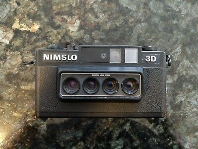 Vintage Nimslo 3D 35mm Quadra Lens Camera with MANUAL - Good Physical Condition