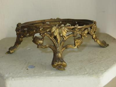 Antique French Gilded Brass Bowl Base- Stand.
