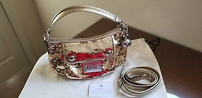 NWOT Coach Poppy Groovy Gold  Sequin Hobo  Bag Purse 15381 LIMITED EDITION!