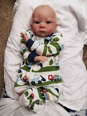 Reborn Baby Boy Doll LOOLI by Betty Morel RARE HTF Limited Edition PREEMIE