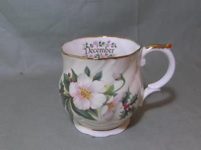 "Queens China ""Flowers of the Month"" Small Mug for December"