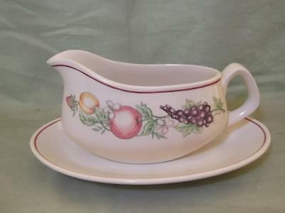 Boots Orchard Gravy or Sauce Boat & Stand