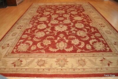 ON SALE FINE QUALITY 9' x 12' Persian design Rug Fire brick red color gold