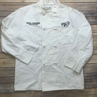 Chef Designs Chef Coat 8 Knot Button Double Breasted White 0411WH w/ EMBROIDERY