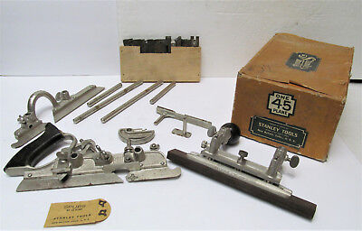 Vintage STANLEY 45 Combination Plane & Cutters IN ORIGINAL 2 Piece Cardboard Box
