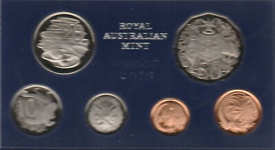 Australia,1,2,5,10,20,50 Cents Coins, 1972 Proof Set Cat#