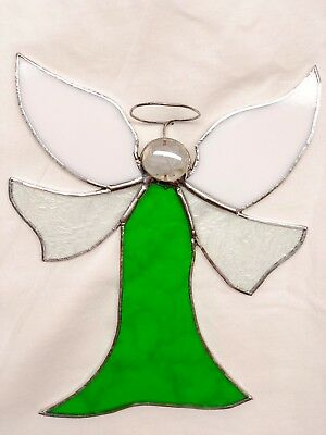 Large stained glass Guardian Angel suncatcher! Perfect for your window!