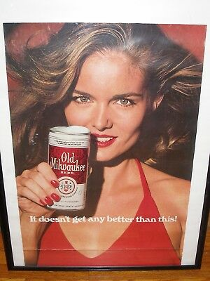 Old Milwaukee Beer Pinup Poster