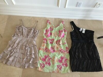 DRESS LOT OF THREE SIZE LARGE New with tags + worn once $600 VALUE