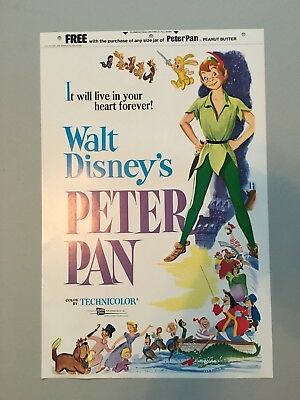 Vintage Peter Pan Peanut Butter Movie Poster 1958
