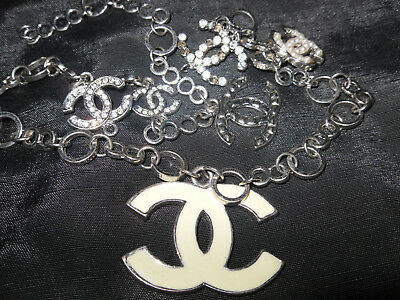 "Fine Vintage Coco Chanel necklace 20"" with 6 pendants ~~no reserve!"