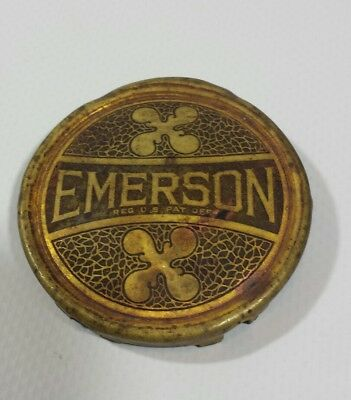 "Antique Vintage Emerson Fan Brass Logo Badge for  12""& 16'' for Steel Cage Fans"