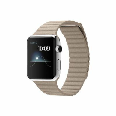 Original Apple Watch Armband 42mm Stone Leather Loop M
