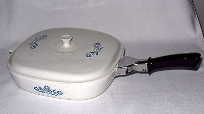 Corning Ware CornFlower Pyroceram Casserole Skillet Dish A32 with Lid and Handle