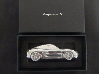 Porsche Cayman S Limited Edition Solid Billet  paperweight new in box.