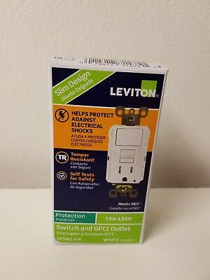 Leviton 15A Switch and Ground Fault Circuit Interrupter (GFSW1-KW)