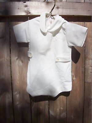 Vintage Baby Boy White Carters Christening Outfit 6 MO 14-18 lbs.