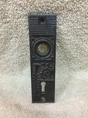 Antique Cast Iron Victorian Door Knob Back Plate Escutcheon Crafts Projects