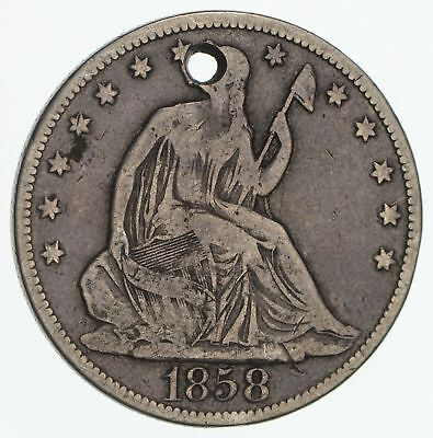 Early - 1858-O Seated Liberty Half Dollar - Rare Type US Coin Silver 90% *312