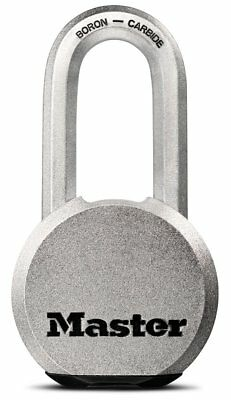 Padlock Lock Key Magnum Steel Solid Body 2 In. Shackle Security Safety