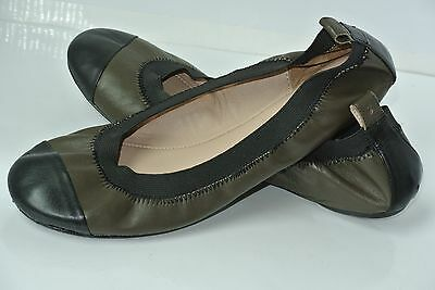 4562e0cab COURAGE.b Spectator Womens 37 / 7 Green & Black Leather Ballet Flats $169  NICE