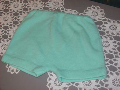Vintage Childs Baby Girls Shorts Mint Green