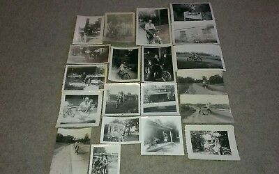 Lot of 20 Vintage Bicycle Snapshot Photos Pictures 1900's-1960's