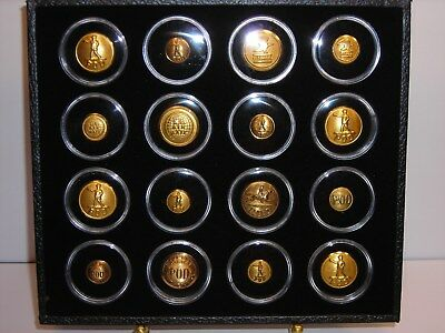Vintage Brass Post Office Buttons Postal Mail Box Door USPS Display Case