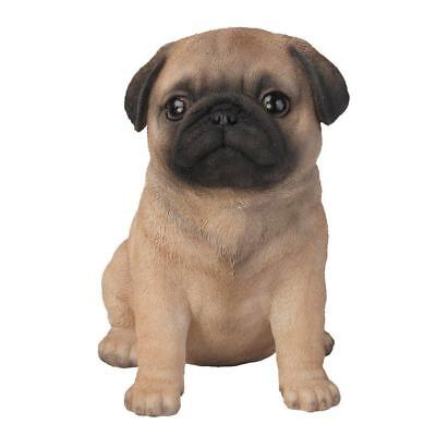Adorable Seated Pug Puppy Collectible Figurine